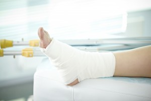 Sprain of a foot - workers compensation insurance